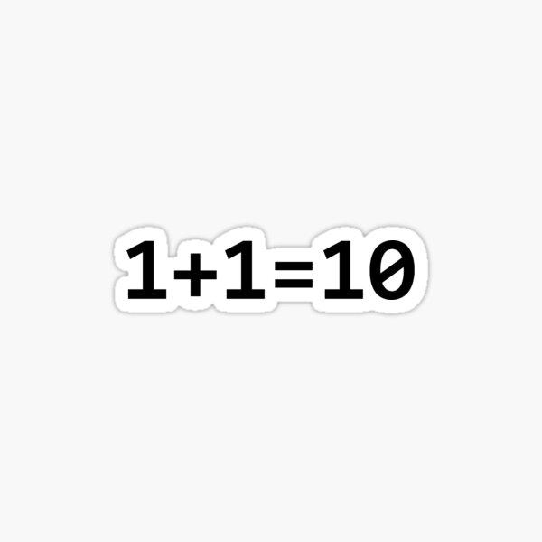 Binary Code Swag Sticker