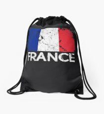French Flag Design | Vintage Made In France Gift Drawstring Bag