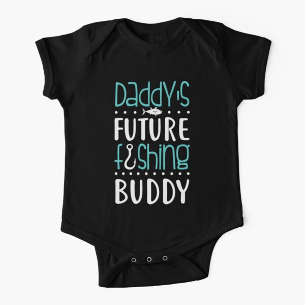 Daddy's Future Fishing Buddy. Father's Day Gift. Short Sleeve Baby One-Piece