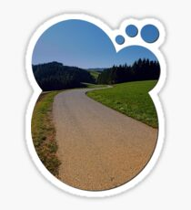 Country road through rural scenery II | landscape photography Sticker