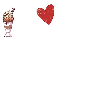 I Love Milkshakes T-shirt Vanilla Strawberry Chocolate by noirty