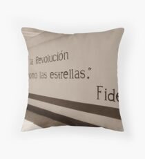 Mural de Fidel Throw Pillow