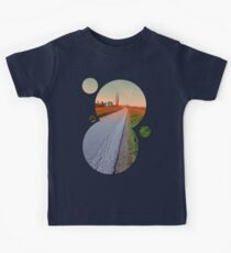 Country road into beautiful scenery | landscape photography Kids Clothes