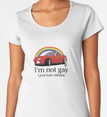 I'm not gay I just love my Miata! Women's Premium T-Shirt