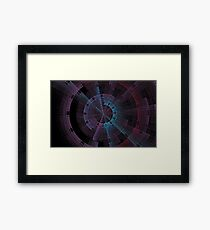 Tech Tunnel Time Wheel Framed Print