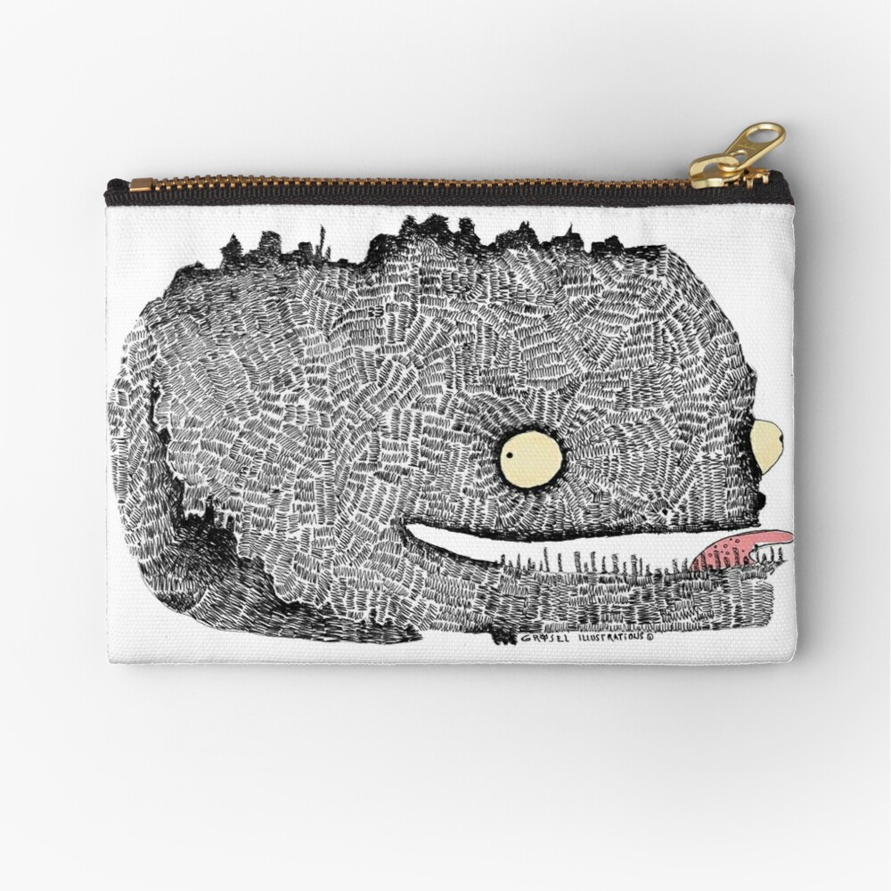 Scribbly Monster Zipper Pouch