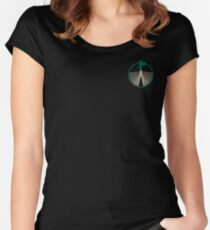 IWPS - colour logo device small Women's Fitted Scoop T-Shirt