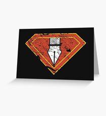 Ps/Ai Superheroes Greeting Card
