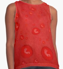 Deep Red Lily Petal and Raindrops Contrast Tank