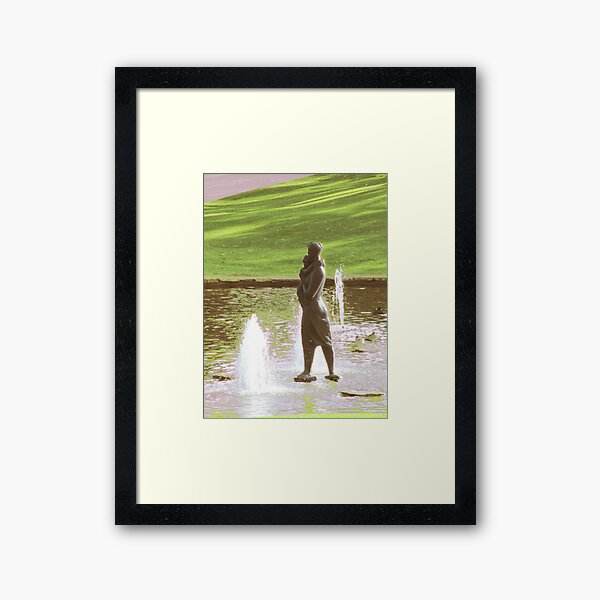 The Kings Park, Mother and Child Framed Art Print