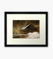 Snowstorm in the magic hour Framed Print
