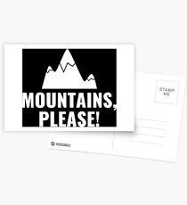 Mountains please white Postcards