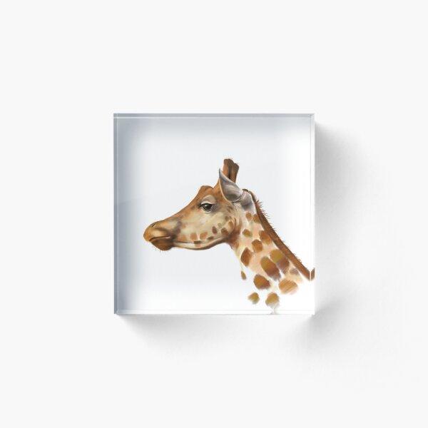 Portrait of a Giraffe Acrylic Block