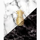 Pineapple Marble- Luxury iPhone Case and Apparel Design by PurpleLoxe