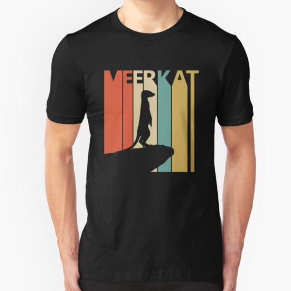 Vintage Retro Meerkat Slim Fit T-Shirt