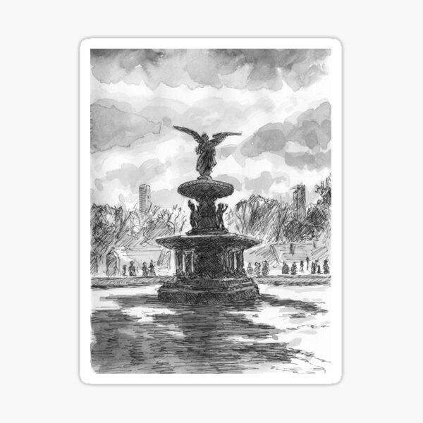 Bethesda Fountain, Central Park Sticker