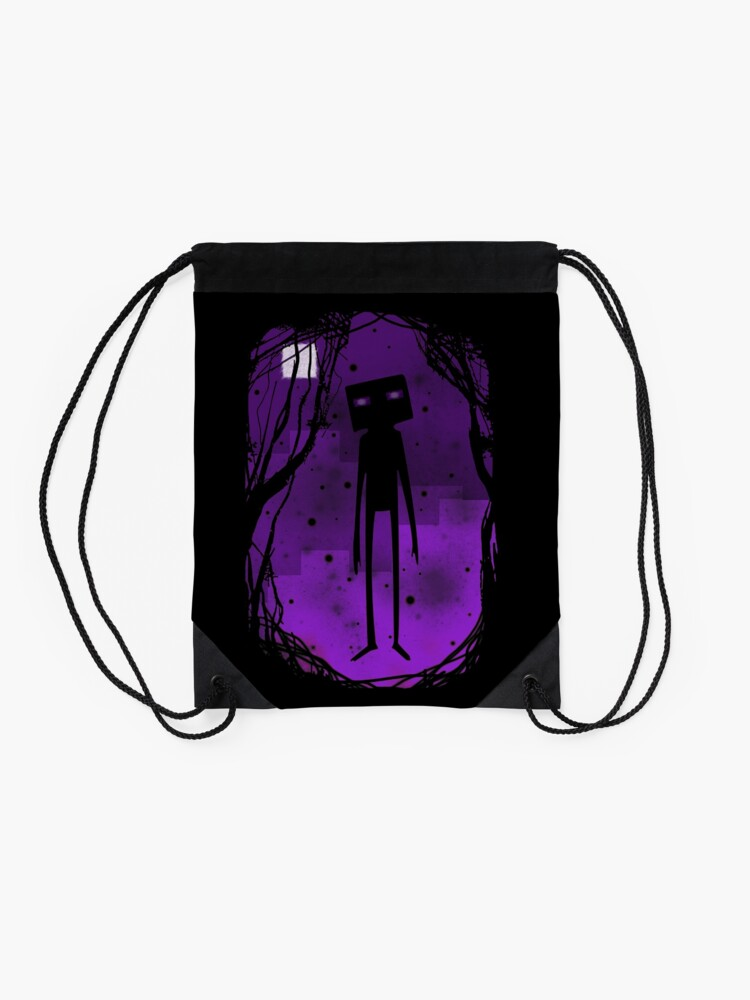 Alternate view of Enderman Drawstring Bag