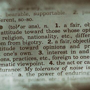 Forgotten Meanings - Tolerance by JoeGeraci