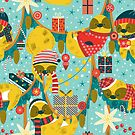 Christmas in the sloth's jungle by Angela Sbandelli