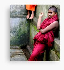 Monk and Feet Canvas Print
