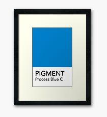 Pantone Process Blue C Framed Print