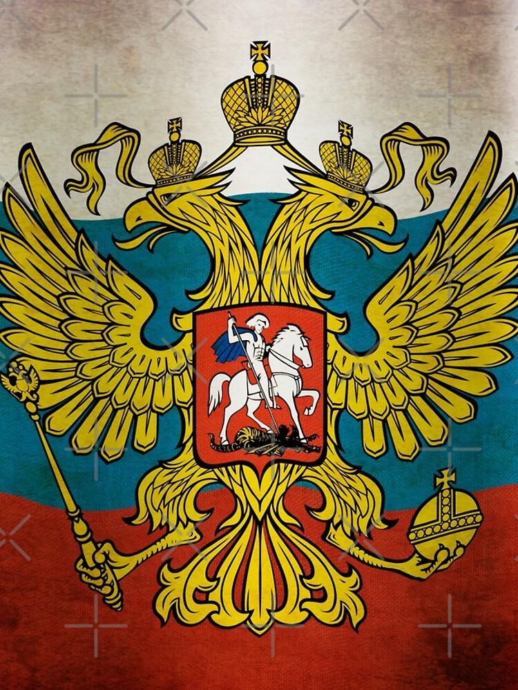 Waving flag of Russia von pASob-dESIGN
