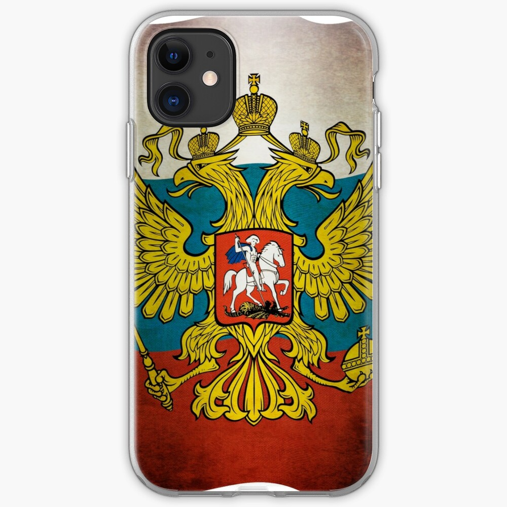 Waving flag of Russia iPhone-Hülle & Cover
