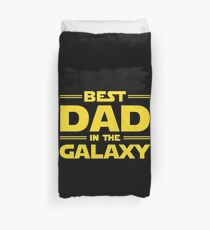 Best Dad in The Galaxy Duvet Cover