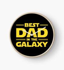 Best Dad in The Galaxy Clock