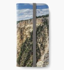 Grand Canyon of Yellowstone River and Lower Falls from Artist Point iPhone Wallet/Case/Skin