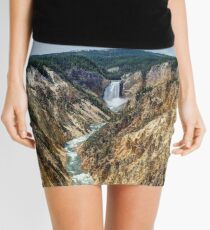 Grand Canyon of Yellowstone River and Lower Falls from Artist Point Mini Skirt