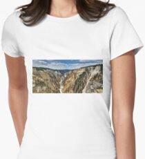 Grand Canyon of Yellowstone River and Lower Falls from Artist Point Women's Fitted T-Shirt