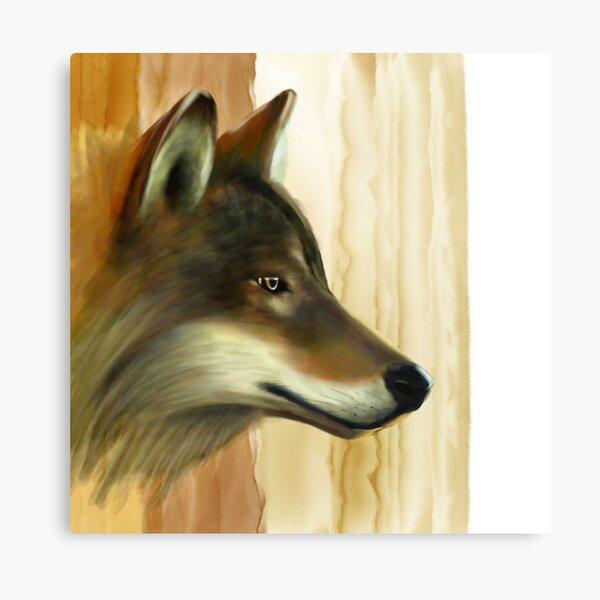 Portrait of a Wolf Canvas Print