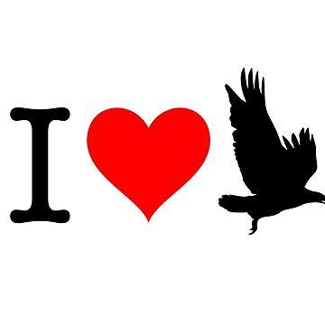I Love Eagle by fourretout