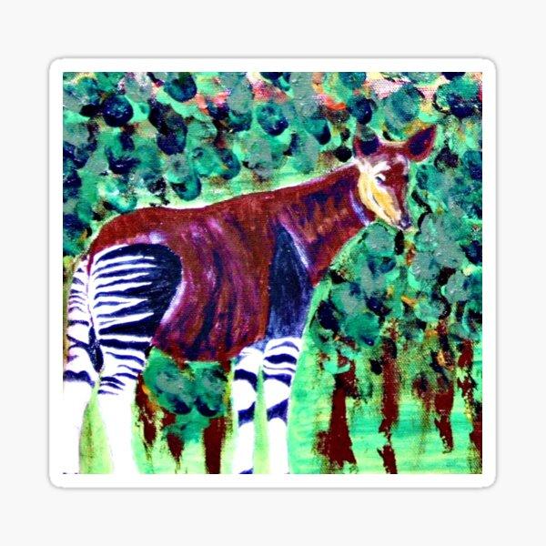 Okapi in the jungle Sticker