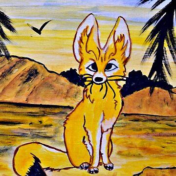 Lady Fennec Fox by ditempli
