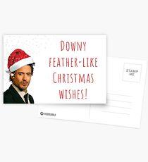 Robert Downey Jr Christmas card, Funny, Hilarious, Banter, Meme, Gifts, Presents, Ideas, Art Style, Colors, Winter, Actors, Jokes, Puns Postcards