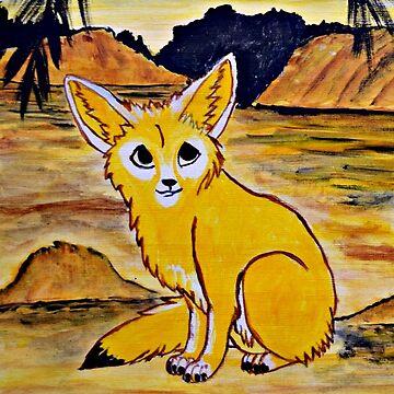 Young Fennec Fox by ditempli
