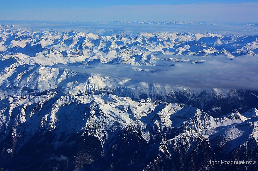 Swiss Alps V. Aerial. 2010 by Igor Pozdnyakov