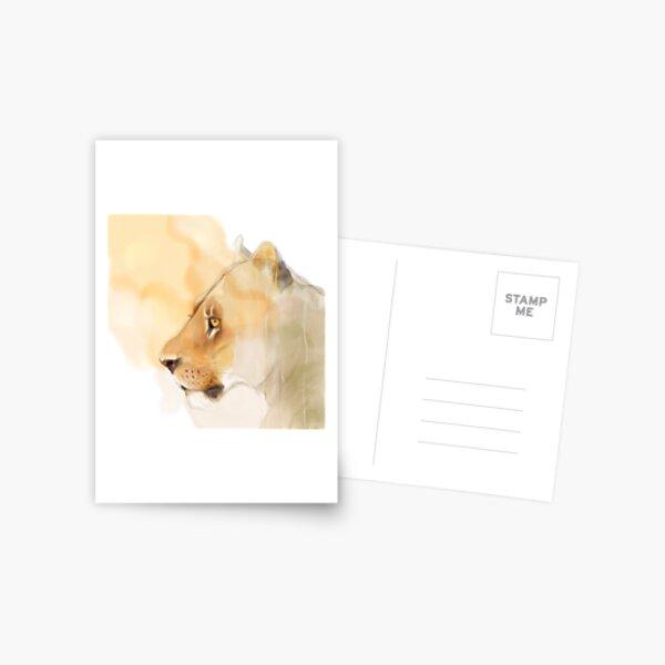 Portrait of a Lioness Postcard
