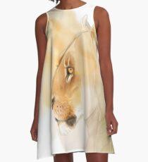 Portrait of a Lioness A-Line Dress