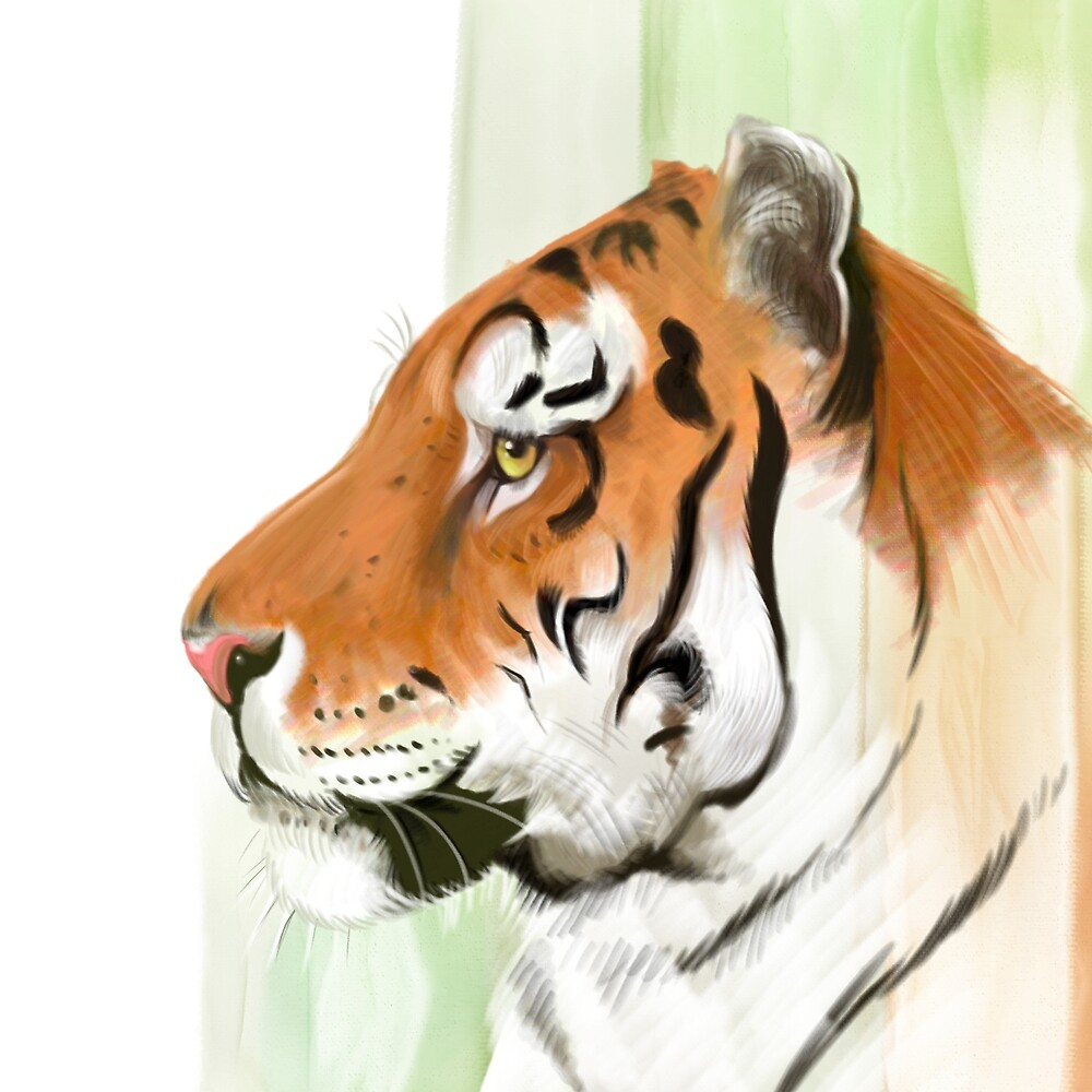 Portrait of a Tiger by artbywilf
