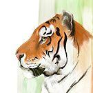 Portrait of a Tiger by artbywilf