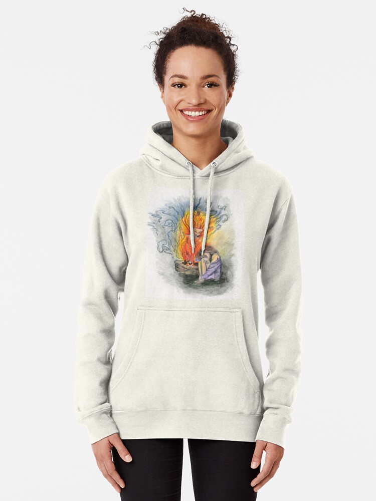 Alternate view of She is Fire Pullover Hoodie