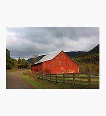 Red Barn in Poor Valley  Photographic Print