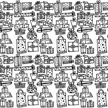 Monochrome Series - Christmas Presents by nadiairianto