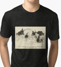 Snowdrop & Other Tales by Jacob Grimm art Arthur Rackham 1920 0084 Rich Brother and Turnip Tri-blend T-Shirt