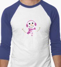 Snowman Baseball ¾ Sleeve T-Shirt
