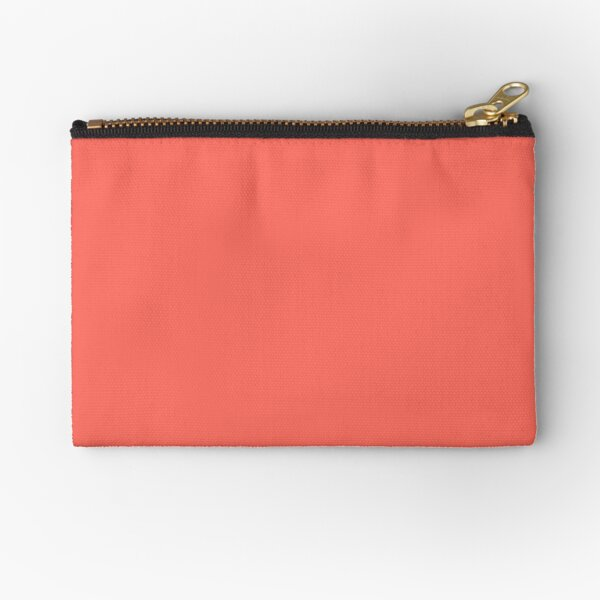 Pantone Color of the Year Living Coral 2019 - PLAIN SOLID LIVING CORAL -100 CORAL AND PINK SHADES ON OZCUSHIONS ON ALL PRODUCTS Zipper Pouch