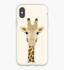 Golden Glitter Giraffe iPhone Case
